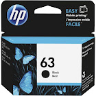 HP 63 Ink Cartridge, Dye-based Black - 1-pack