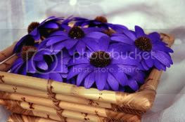 Purple Wooden Daisies