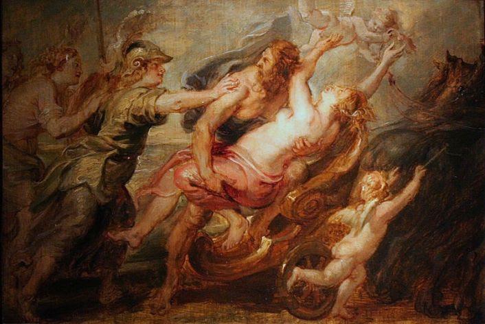 Η Αθηνά κι ο Άρης ζητάνε από τον Άδη να μην απαγάγει την Περσεφόνη -  Peter Paul Rubens, 1636