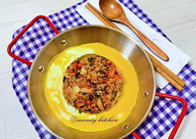 Cara Praktis Membuat 김치볶음밥🇰🇷/ Nasi Goreng Kimchi (Super Easy) Bikin Nagih