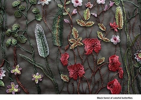 New 3Yards/lot Flower Leaves Embroidery Mesh Fabric