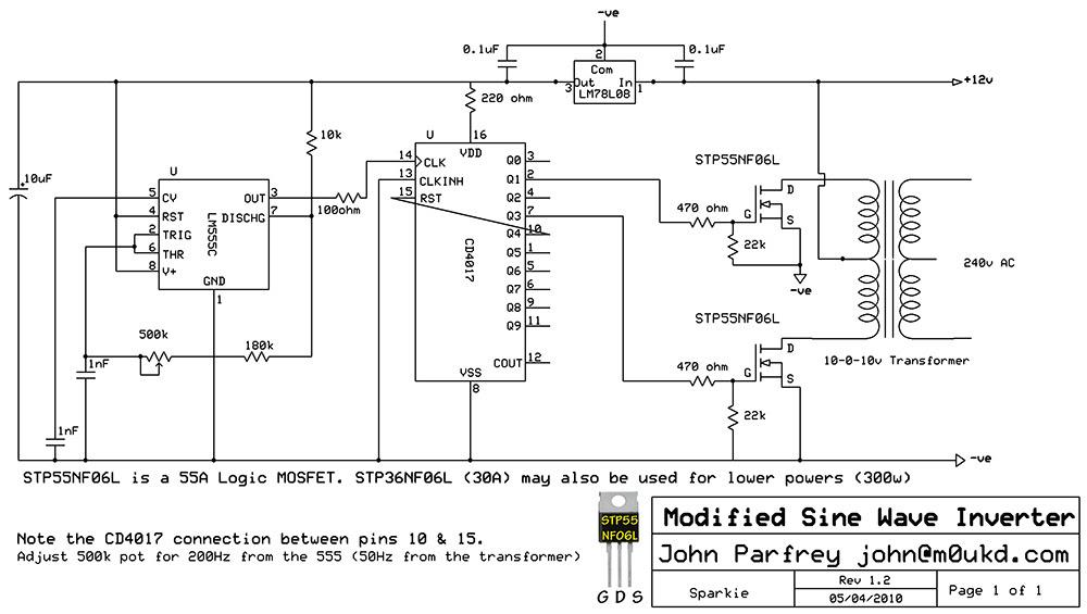 pure sine wave inverter circuit diagram pdf