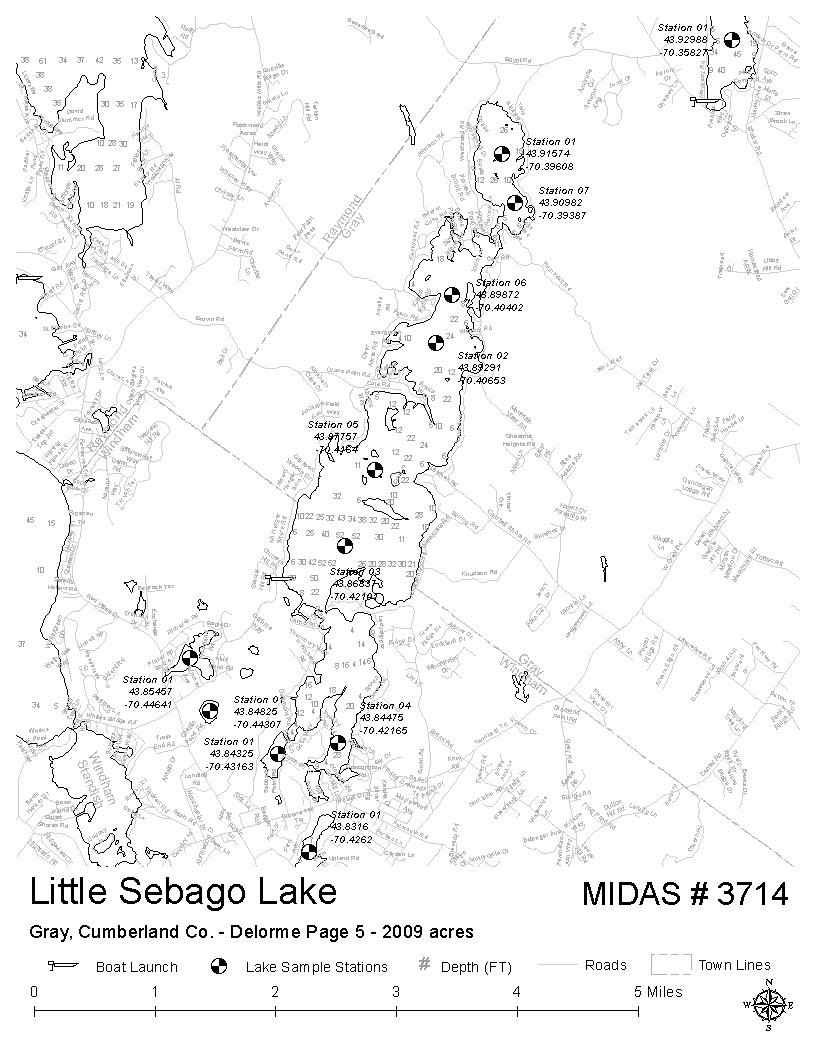 Lakes Of Maine Lake Overview Little Sebago Lake Gray