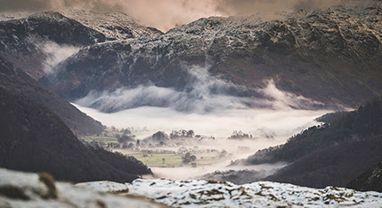 The Borrowdale Valley during winter - Jason Chambers Photography