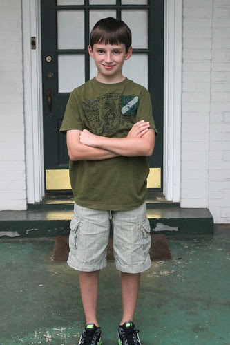 Gavin's first day as a Middle Schooler...notice shirt is not tucked in yet.