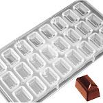 O'Creme Polycarbonate Chocolate Mold Envelope, 24 Cavities | Bakedeco