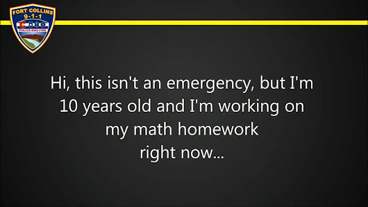 Child calls 911 for help with homework