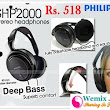 Philips SHP2000 Headphones Rs 518