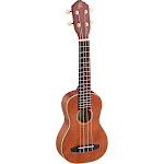 Ortega Guitars RU10 Root Series Soprano Ukulele All Solid Mahogany, Ivory ABS Binding with Free Deluxe Gig Bag