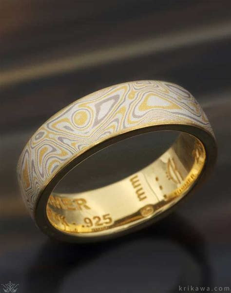 Here is a sample mokume wedding band in our Summer Mokume