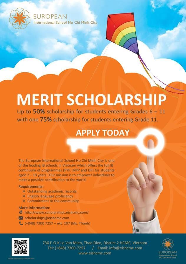 Apply today for European International School's Merit ...