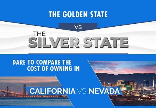 Silver vs Gold: Comparing The Cost of Living in Nevada to California [Infographic]
