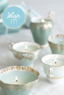 Tea Cup Candles   Bridal Shower Decorations   Garden Party