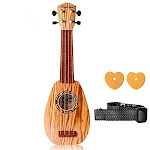 Satisfounder 17 Inch Kids Guitar Ukulele Toys 4 Strings Mini Musical Instruments Educational Learning Toy for Toddlers Babies Beginner Keep Tone Anti-