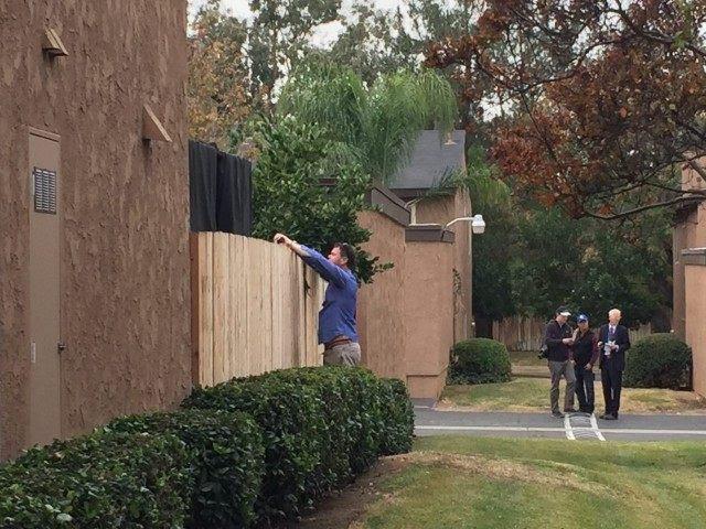 Suspects' home in San Bernardino (Michelle Moons / Breitbart News)