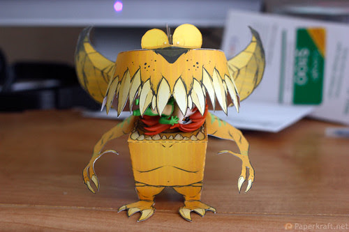 Thorndyke Monster Papercraft 05