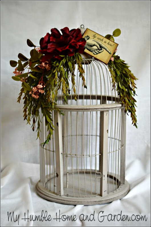 Birdcage Card Holder - Wedding DIY To Make Yours Unique - My Humble Home and Garden