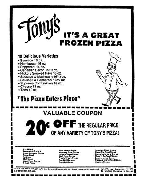 Tony's Frozen Pizza - September 1972 | Frozen pizza