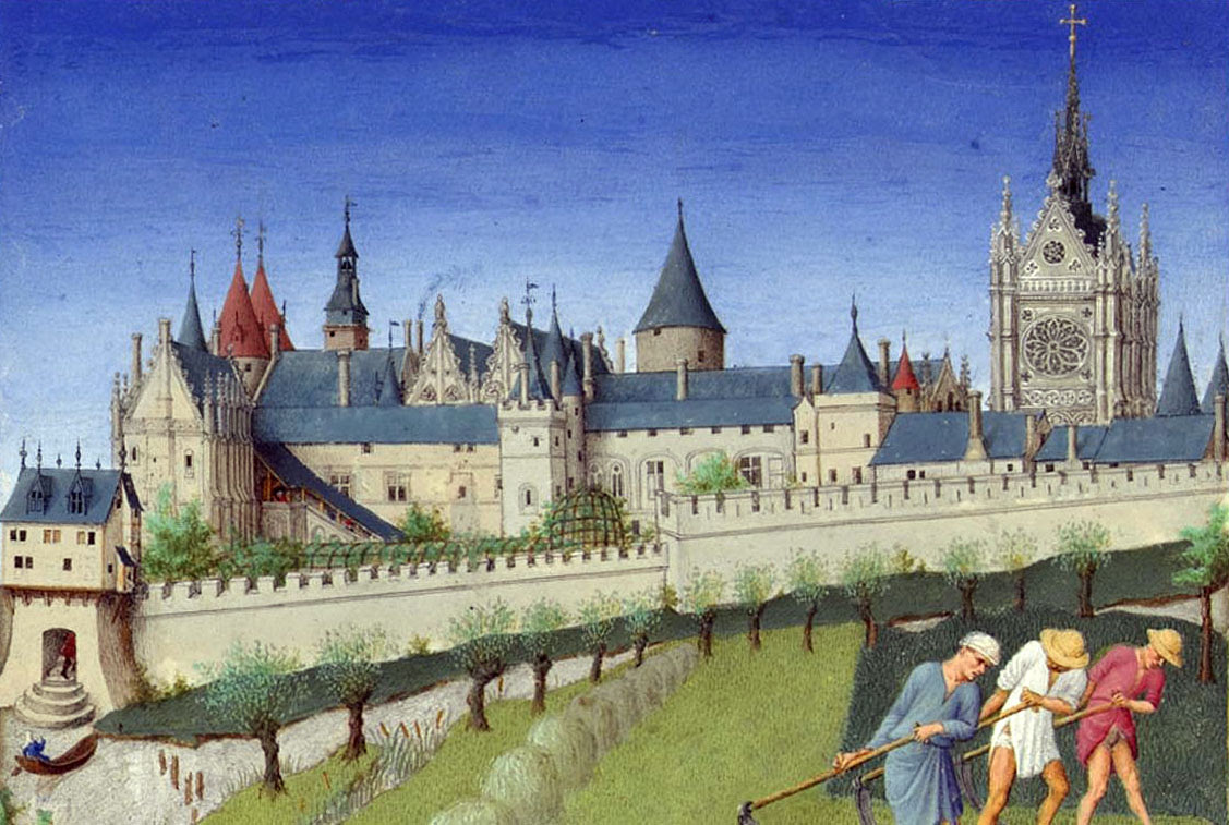 From the Tres Riches Heures du Duc de Berry, sourced from Wikimedia Commons