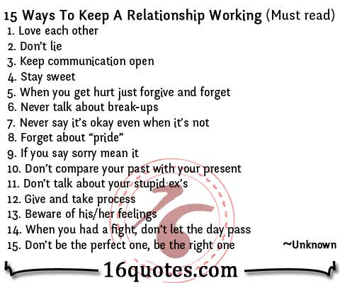 15 Ways To Keep A Relationship Working – Relationship Advice