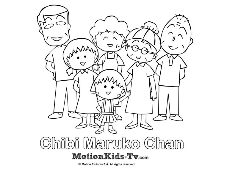 Coloring Pages Chibi Maruko Chan Motionkids Tv Fun For Kids