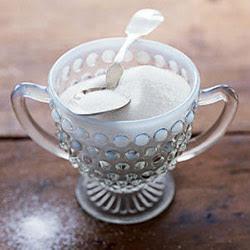spoon in sugar bowl