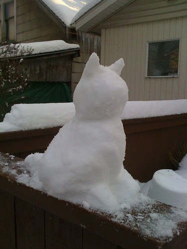 Snow kitty 2
