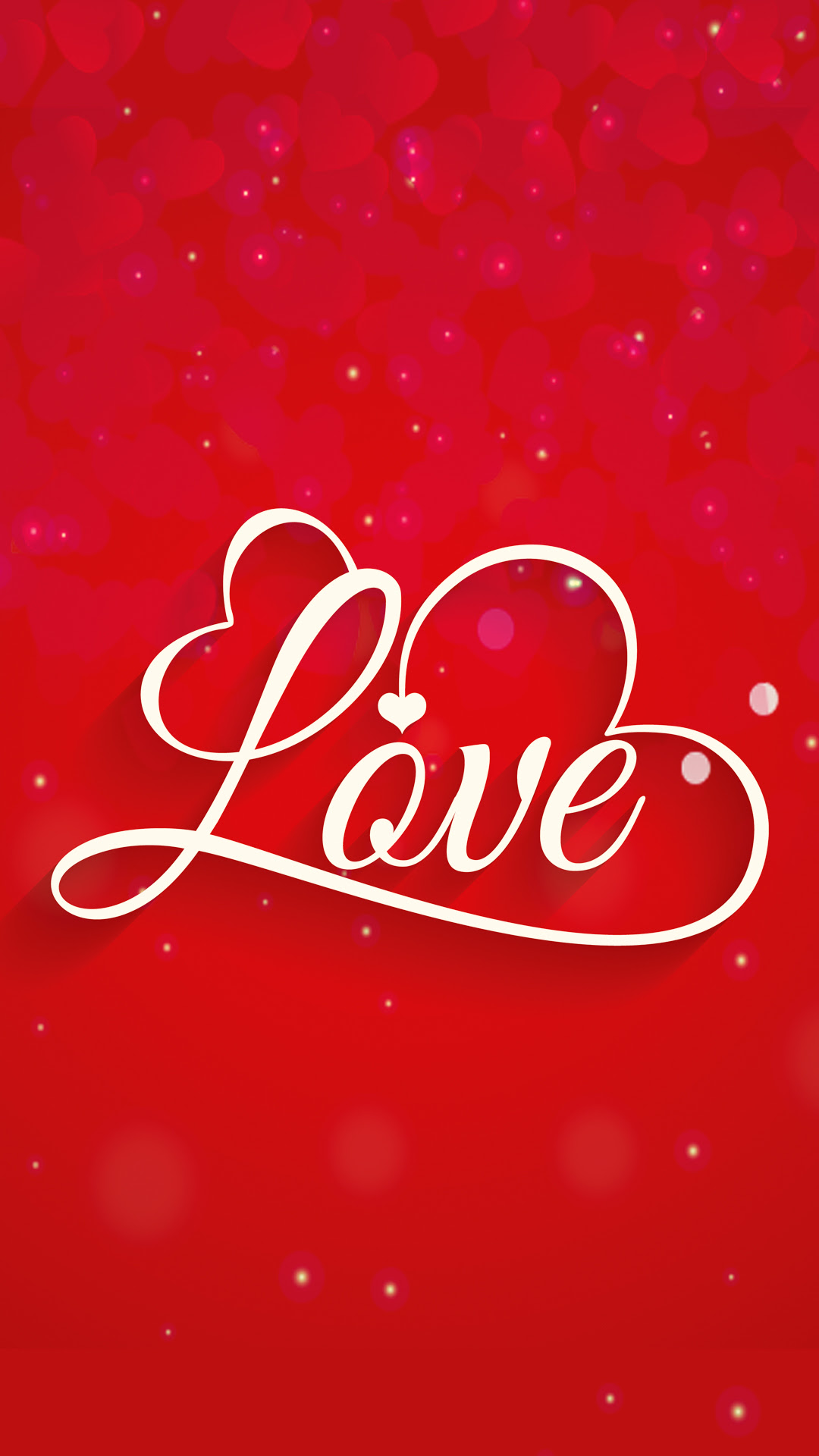 Red Love HD Wallpaper For Your Mobile