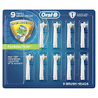 Oral-B Floss Action Replacement Brush Heads, 9-count