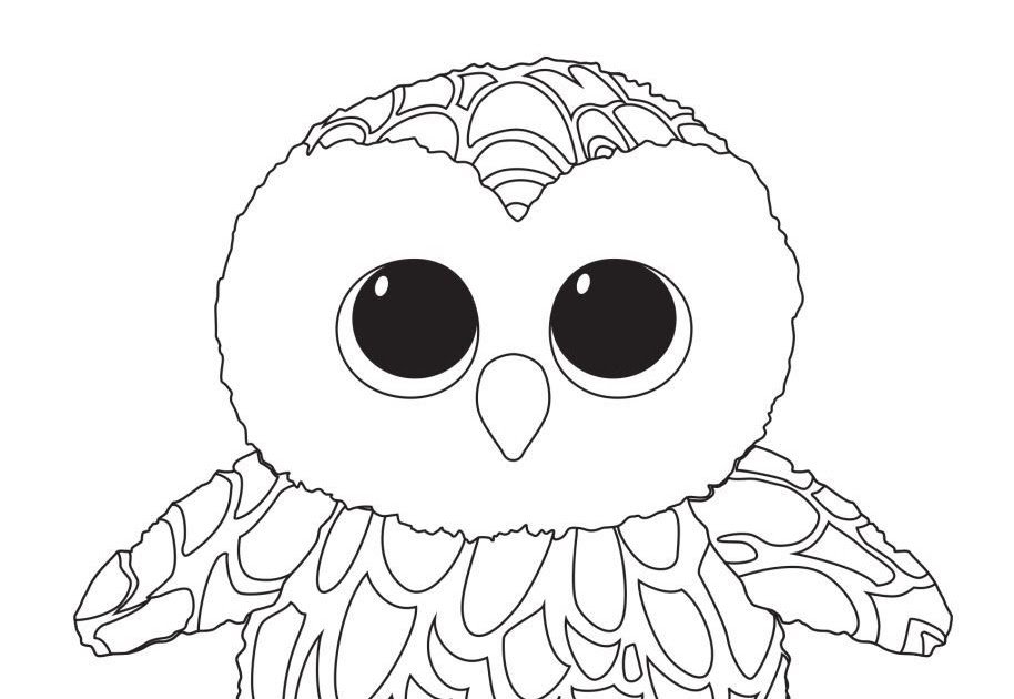 - Salles Dejeux: Owl Beanie Boo Coloring Pages
