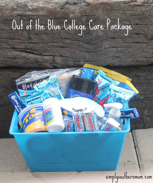 Out of the Blue DIY College Gift Basket - Simply Southern Mom