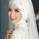 foto pengantin wanita hijab cantik tutorial hijab terbaru