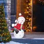 "Mullally Int'l Inc 26"" Snowman Greeter on Snowball"