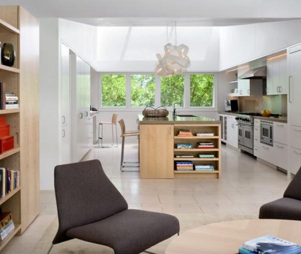 Kalifornisches Passiv Haus mit Garten und Einrichtung im ...