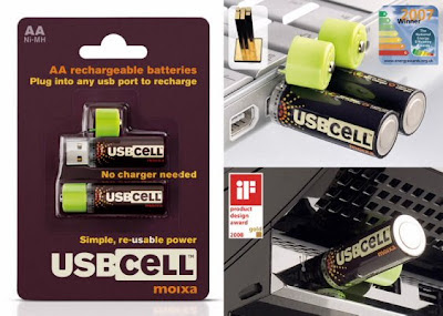 USBCELL AA Rechargeable Batteries