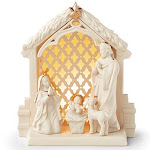 Illuminations nativity scene by lenox