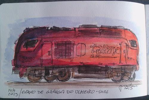 Locomotiva na estação de Granja do Ulmeiro - Soure by JMADesigner