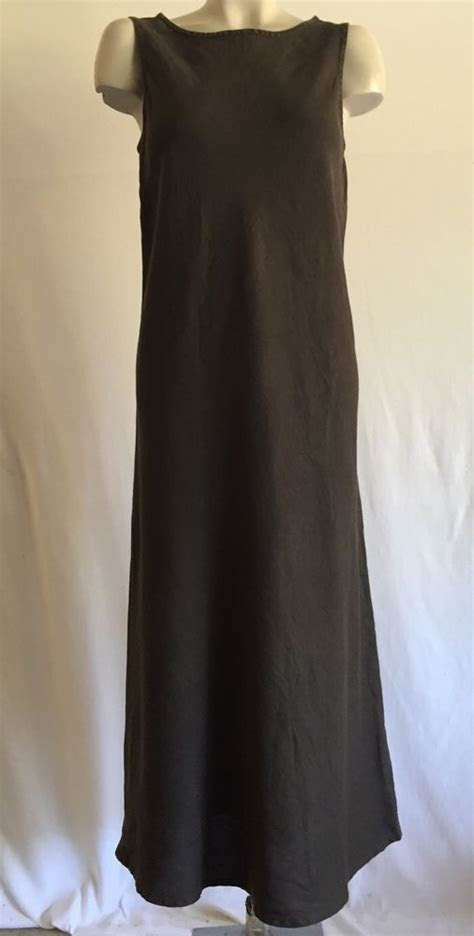 EILEEN FISHER LONG LINEN MAXI DRESS SZ M #EileenFisher #
