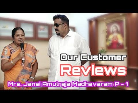 Our Customer Reviews,  Mrs. Jansi Amulraja Madhavaram,  P - 1