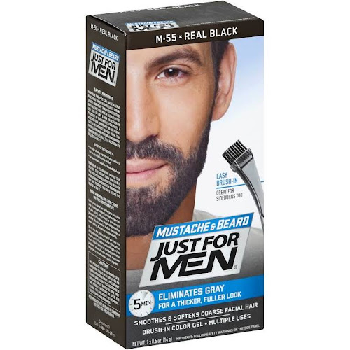 Just For Men Mustache And Beard Brush-In Color Gel In Real Black ...