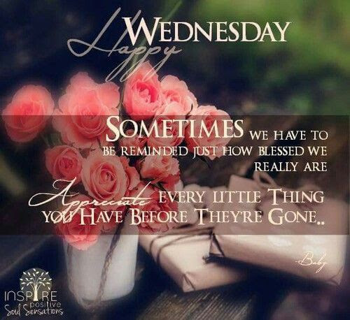 Happy Wednesday Appreciate The Little Things Pictures Photos And