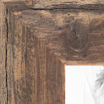 12x24 Real Reclaimed Light Brown Barnwood Wood Picture Poster Frame for 24x12 Photo WOM-RFB-150-TOB-12x24 by ArtToFrames