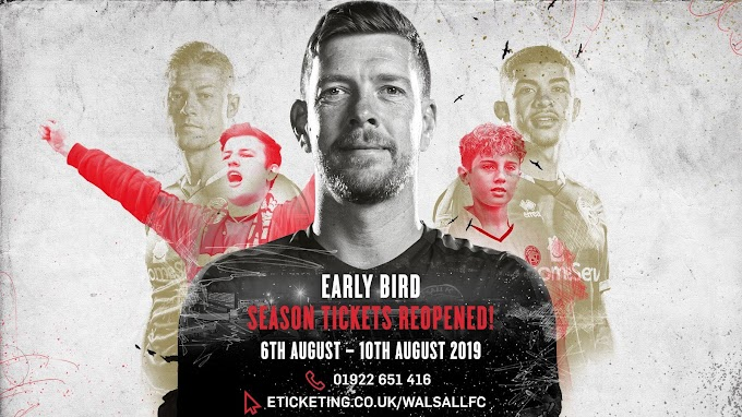 Over 320 Early Bird Season Tickets Have Been Sold Since Offer Returned