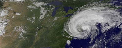 This image made available by the NASA/NOAA GOES Project shows Hurricane Irene. (AP Photo/NASA/NOAA GOES Project)