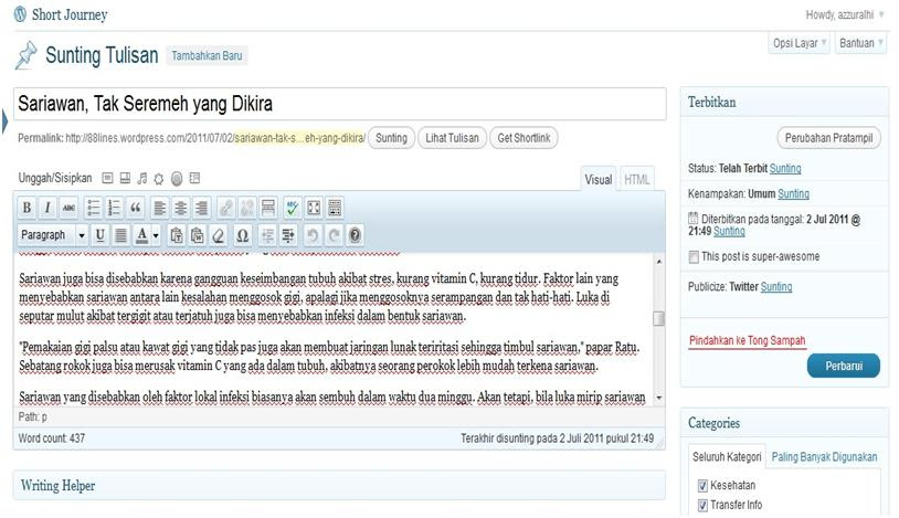 Cara Posting Artikel di WordPress Melalui Microsoft Word 2007