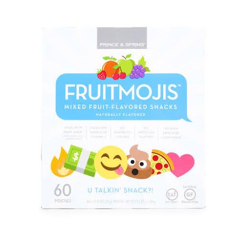 Prince & Spring Fruitmojis Snacks, Mixed Fruit - 60 pack, 0.8 oz pouches