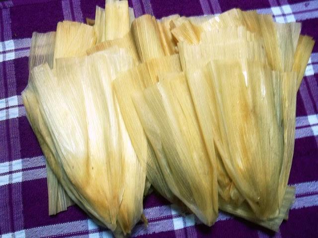 Rinsed corn husks
