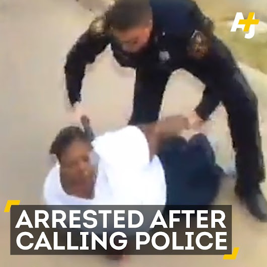 "Anonymous on Twitter: ""This mother told police her son was assaulted. The officer then wrestled her to the ground and arrested her. """