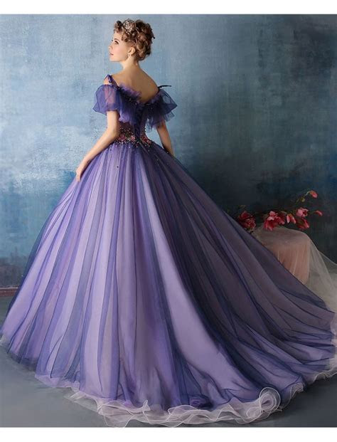 Off Shoulder Vintage Style Princess Ball Gown