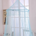 Epoch Hometex Sheer Galaxy Collapsible Hoop Kids Bed Canopy (Blue)